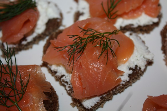 Wine Tasting Bridal Shower Smoked Salmon Appetizer