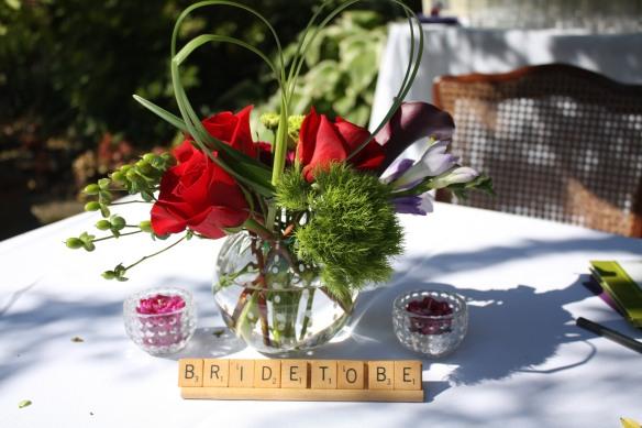 Tying the Knot Bridal Shower Floral Arrangement || Sarah Sofia Productions