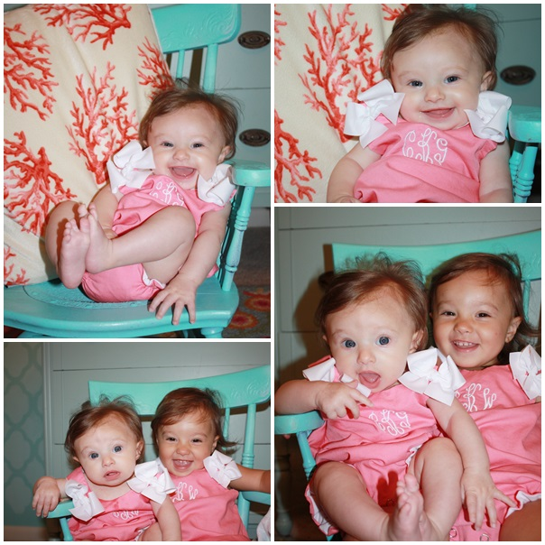 My daughter Charlotte Grace's Sip & See and her sister Sofia Wimberley