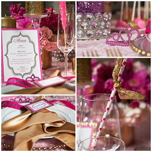 pinl gold glam bridal shower