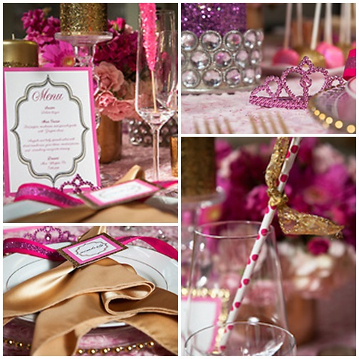 Pinl + Gold GLAM Bridal Shower