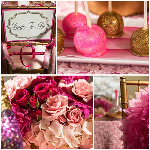 Pink + Gold GLAM Bridal Shower