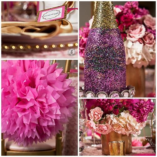 Pink + Gold GLAM Bridal Shower