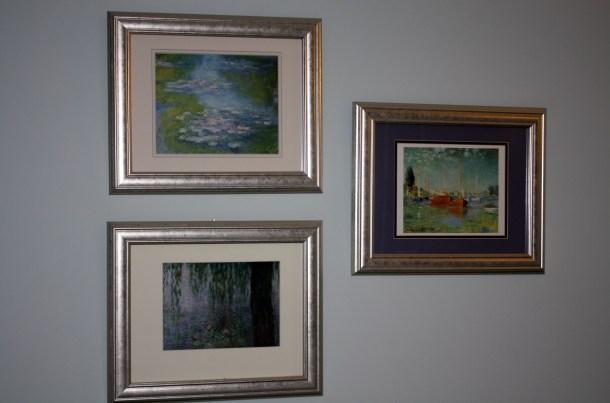 Wall Art Master Bedroom Monet Prints