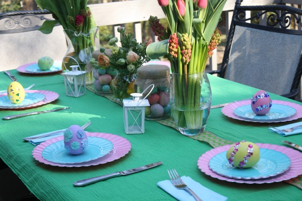 Easter Dinnter Tablescape