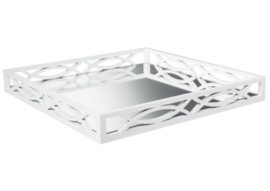 White Mirrored Tray