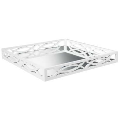 White Mirrored Tray
