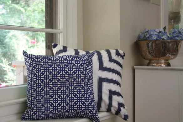 Blue & white Pillows