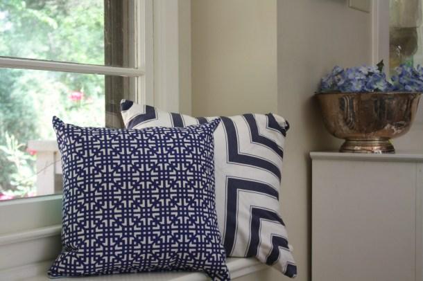 Blue & white Pillows