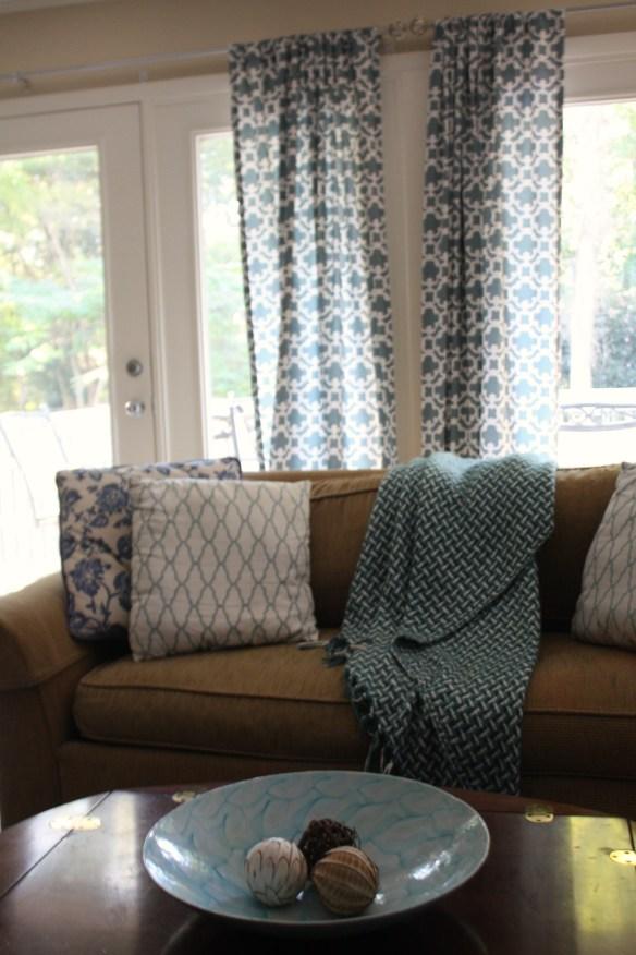 Blue & White Bash: Family Room Seak Peek