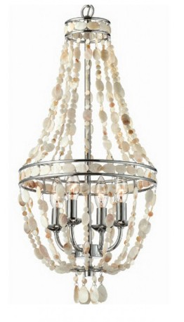 White Shell Beaded Chandi