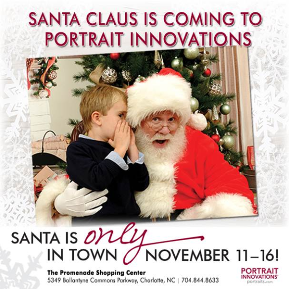 Santa Claus is Coming to Portrait Innovations BLOGGER IMAGE