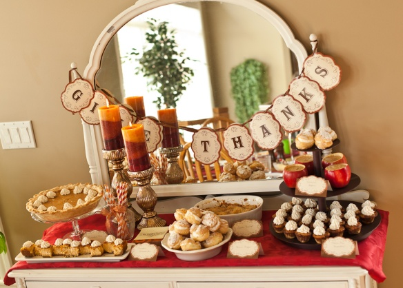 Events and Beyond Thanksgiving Dessert Table