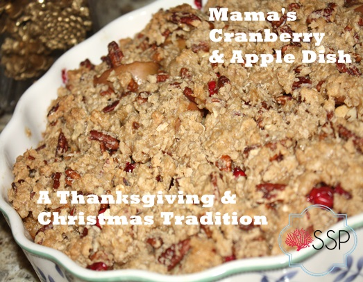 Mamas Cranberry and Apple Dish