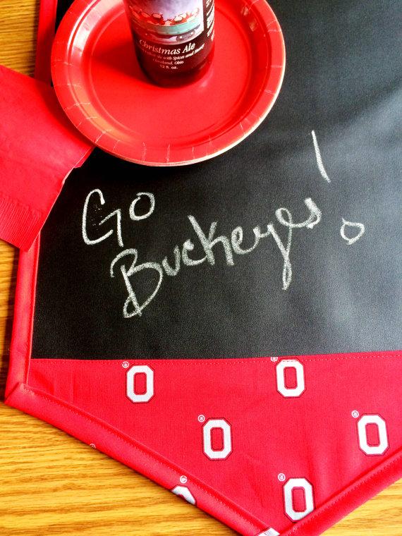 Go Buckeys Table Runner Chalk Cloth