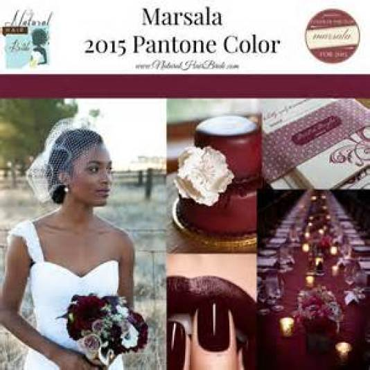 natural hair bride Marsala