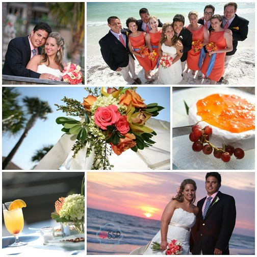Sarasota Coral and Cornflower Blue Wedding || Sarah Sofia Productions